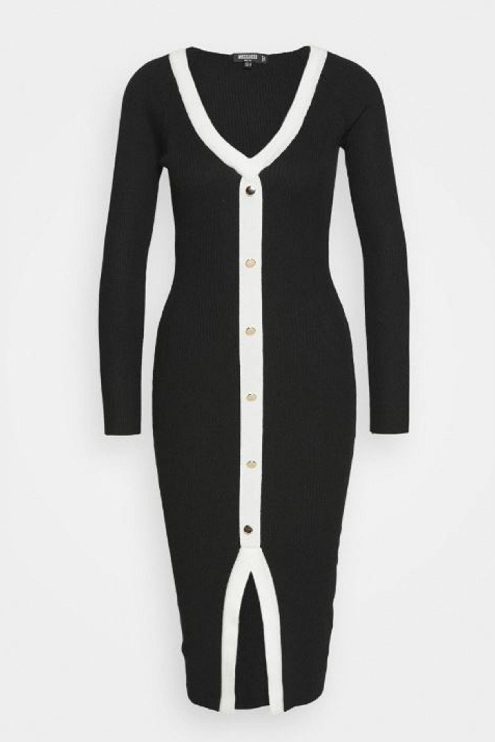 svart-vit-figurformad-elegant-klänning-zalando