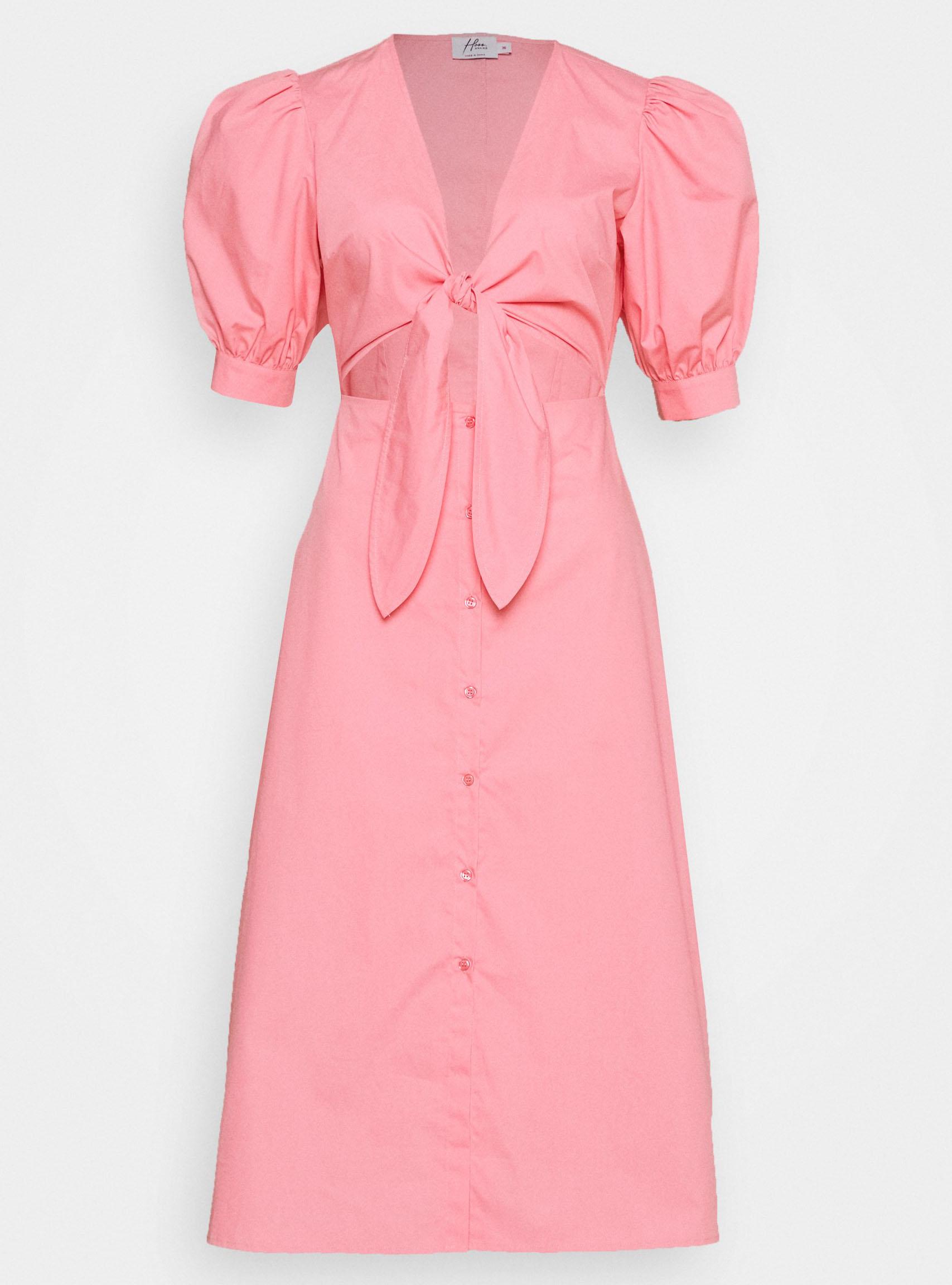 rosa-midiklänning-front-twist-från-Hoss-x-na-kd